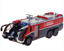 1 PC 17cm Cadeve Alloy water cannon fire truck light truck model 1:50 gifts