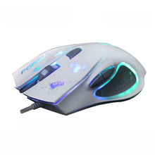 FORVE New FV-Q301 Colorful light Gaming Wired Mouse For LOL Speed With Free Driver Perfect lighting system Comfortable Hand 6D