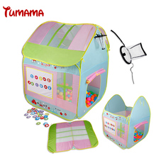 Tumana Baby Play Tent Child Kids Indoor Outdoor Tents House Large Portable Ocean Balls Great Gift games Playhouse Toys with Hoop