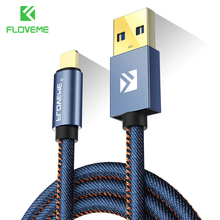 FLOVEME Type C Cable For Samsung S8 Plus Xiaomi 6 5X Huawei P10 Meizu Pro 7 Leather Fast Charge USB Type-C Data Transfer Cables(China)