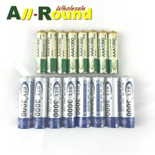 8PCS AAA 1350 & 8PCS AA 3000 1.2V BTY Ni-MH Rechargeable Battery Cell Set