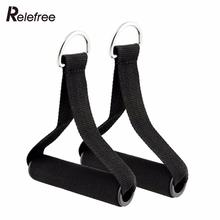Buy Relefree 1Pair Pull Handles Resistance Bands Foam Replacement Fitness Equipment Black Yoga Exercise Workout for $2.35 in AliExpress store