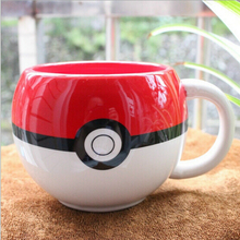 Drop shipping- Pokemon Poke Ball mug Handgrip Ceramic Coffee Mug tea Cup for children gift(China)