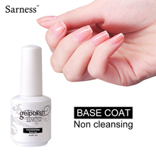sarness No Sticky Gel Nail Cover Clean Free No Wipe Top Coat Long Lasting Soak Off Nai Gel Polish Without Sticky Layer(China)