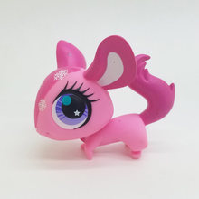 Original 1pc LPS cute toys Lovely Pet shop animal Pink Mouse Snow purple eyes action figure littlest doll