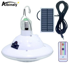 Albinaly Waterproof 22 LED Solar Light Outdoor Garden Light Solar Powered Yard Hiking Tent Camping Hanging Lamp Remote Control