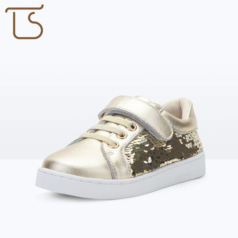 T. S. kids shoes antislip Spring and Autumn new buckle non - slip leather children s sports shoes boys girls shoes kids sneaker<br>