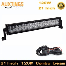 "Straight 21"" inch 120w led light bar combo beam for Off Road Work Driving Offroad Boat Car Truck 4x4 SUV ATV 24v 12V(China)"