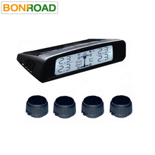 TPMS Automobile Tire Pressure Monitoring System with Solar Panels Rechargeable Battery