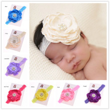 1pcs flower headband Pearl Flower Newborn Hair Bows hairband Photo Prop Pear Flower Curly Hair Accessories(China)