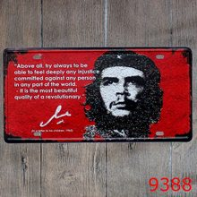 "License plate ""Cuba Che Guevara "" Garage poster Metal wall Art painting iron sign House Cafe Bar decoration 15*30CM(China)"