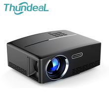ThundeaL GP80 GP70 Android Mini Projector LED LCD 1800 Lumens Projector Max 120inch VGA HDMI Optional Bluetooth WIFI SYNC Beamer