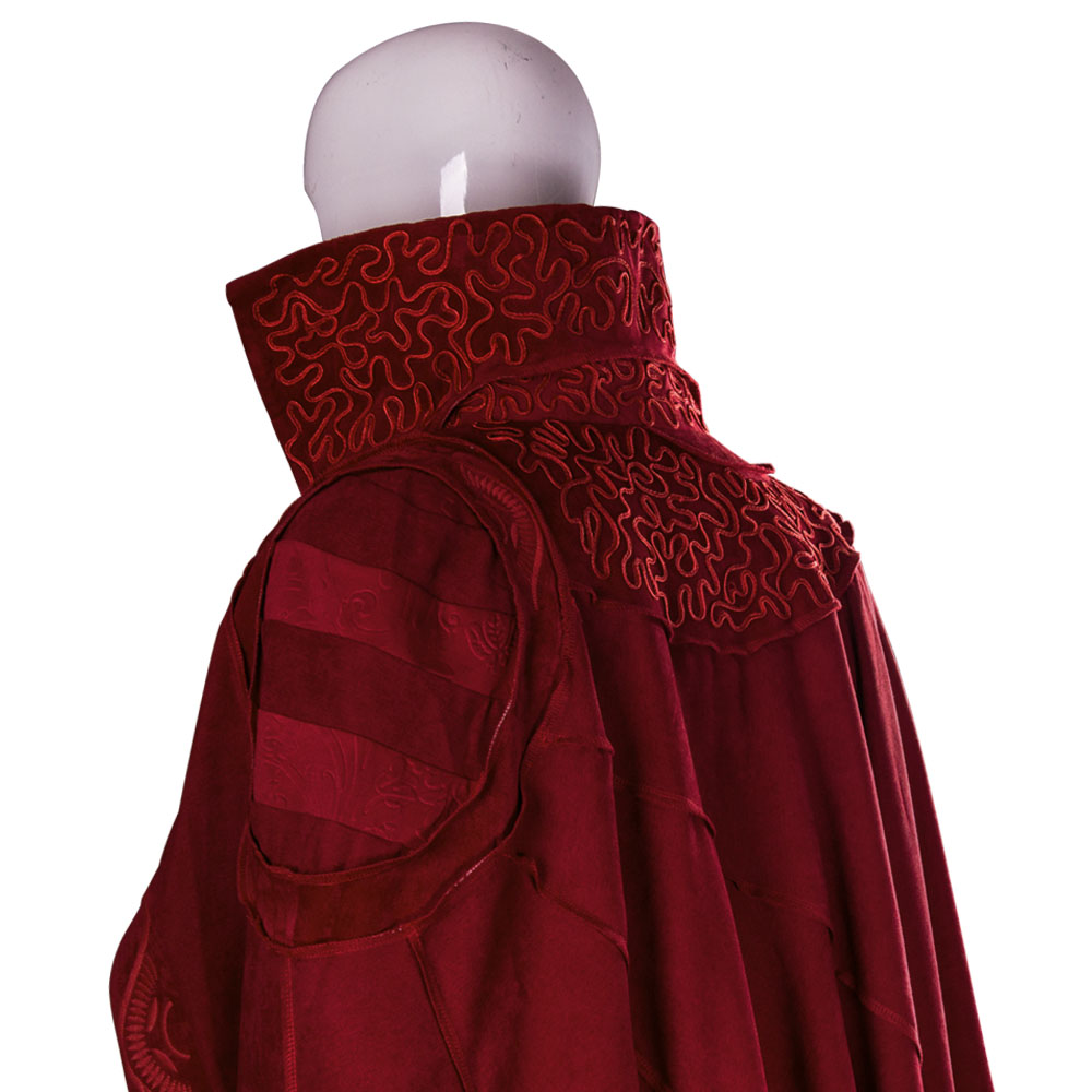 Marvel Movie Doctor Strange Costume Cloak Robe Cosplay Dr. Steve Red Cloak Costume New (8)