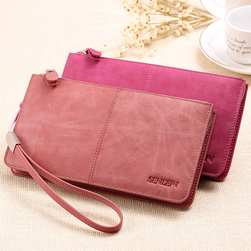 YOUYOU MOUSE 100% Genuine Leather Wallet Women Design Wallet Fashion Clutch Women Cowhide Purse Thin Zip Cion Pocket Card Holder<br><br>Aliexpress