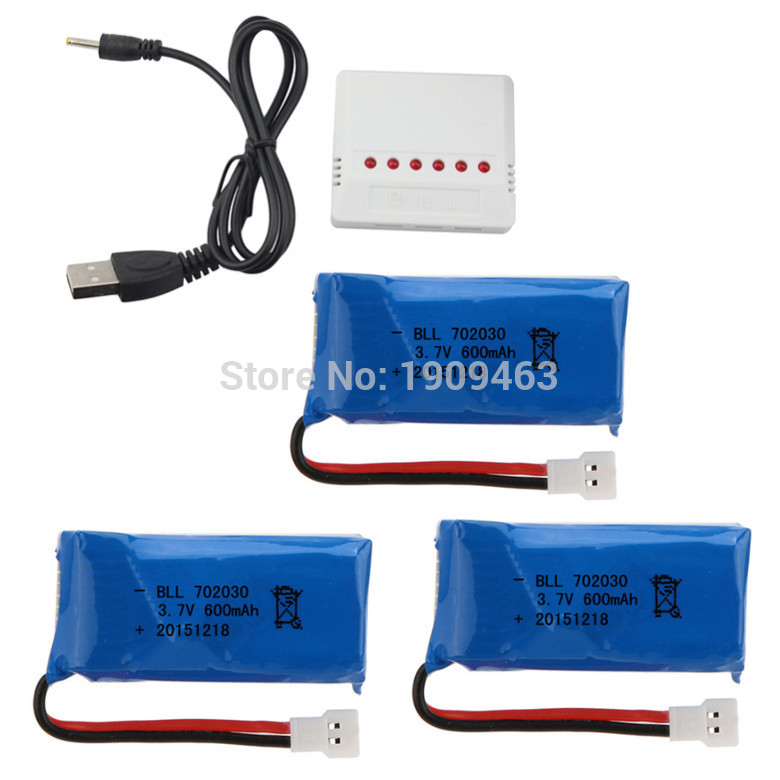 SYMA X9 axis aircraft remote control airplane parts 3.7V600mAh lithium rechargeable battery 3 and 1 6 Charger Kit<br><br>Aliexpress