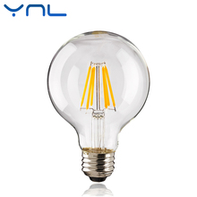 YNL Antique Retro Vintage LED Edison Bulb E27 LED Filament Light G45 G80 G95 AC220V 240V 2W 4W 6W 8W Lampada LED Glass Bulb
