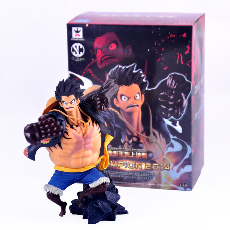 Hot Sale Free Shipping16cm  PVC Model One Piece Figure SCultures Gear Fourth Luffy on Top of The War  The Top War Monkey D Luffy<br><br>Aliexpress