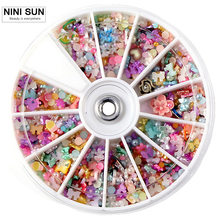 Discount Product Nail Art Decorations 1200pc 3D Polymer Clay Tiny Fimo Wheel Nail Rhinestones Pearls High Quality  Nail Supplies