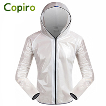 Copiro Quick Dry Men Raincoat Cycling Rain Jacket Waterproof Outdoor Sports Clothing TPU Rainproof Road Mountain Bike Coat(China)