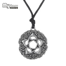 my shape antique silver Plated supernatural statement Star of David Pendant Necklace Christmas Gift For Women Jewelry(China)