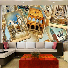 Custom photo wallpaper, European construction sites of restoring ancient ways photos for TV bedroom wall paper DE parede vinyl