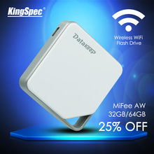 KingSpec DataKeep 32GB  Wireless Portable External Hard Drive - WIFI USB Flash Drive for iPhone, Samsung,Android, etc.