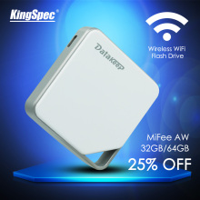 KingSpec DataKeep 32GB  Wireless Portable External Hard Drive - WIFI USB Flash Drive for iPhone, Samsung,Android, etc.(China (Mainland))