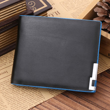 Wholesale New Fashion Men Stylish Business Leather Wallets Card Holder Coin Wallet Purses male Portfolio
