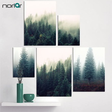 Artwork Landscape Green Forest Canvas Art Print Painting Poster Wall Picture for Home Decoration for Living Room No Frame