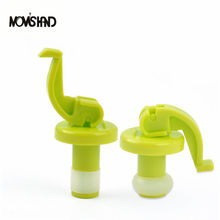 4Pcs/set Novelty Silicone Wine Bottle Stoppers Beer Wine Cork Plug Bottle Cover Kitchen Bar Tool()