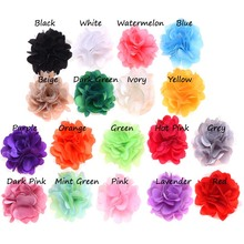 18PCS Satin Flowers  Artificial Flowers for Headbands DIY Flower Hair Accessories No Hair Clip Hair Bows