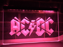 LF079- ACDC ACDC Band Music Bar Club LED Neon Light Sign home decor crafts(China)