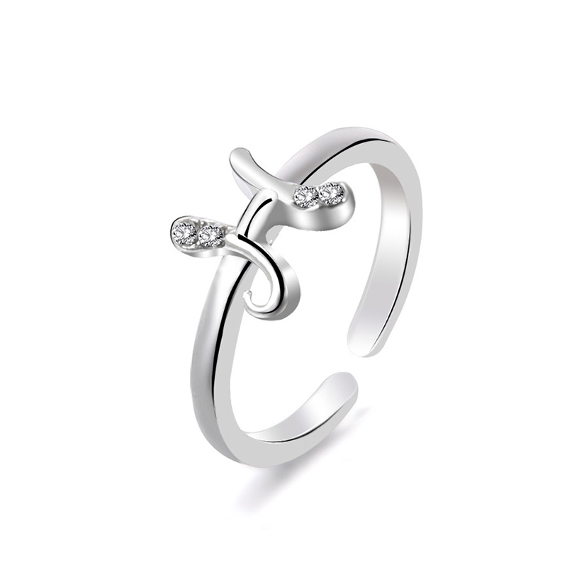 New Letter Band Type Party Love Heart Ring Friendship Best Friend Jewelry