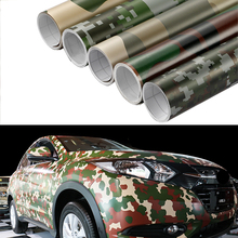 Car-Styling 50x200cm Camouflage Adhesive PVC Vinyl Film Car Wrap Army Military Camo Woodland Digital Sticker Vehicle DIY Decal(China)