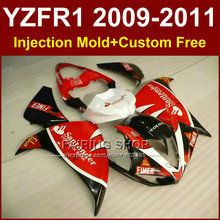 Santander sika red Motorcycle parts for YAMAHA  fairings YZF-R1 09 10 11 12  YZF R1 2009 2010 2011 R1 bodyworks YZF1000 +7Gifts