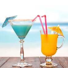 Wholesale New Hot 144 Paper Tropical Hawaiian Cocktail Drink Parasol Umbrella Party Suppies Accessories Drink Decorations