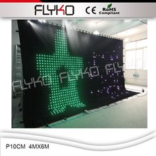 Best sales buy cheap video backstage led curtain,used stage curtains p10cm 4mx6m(China)