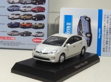 TOYOTA MiniCar Collection - kyosho 1:64 Toyata prius PHV Diecasts model car (white)(China)