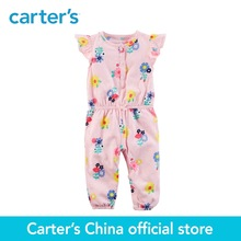 Buy Carter's baby children kids clothing girl spring&summer Floral Jumpsuit front button placket sweet floral print 118H954 for $14.00 in AliExpress store