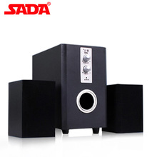 SADA Wood Desktop Multimedia Speaker D-200T Bass Stereo Computer Subwoofer USB Power 2.1 Channel Loudspeaker for Laptop Phone PC