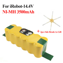 For iRobot Roomba 500 Series Power Tool Battery Pack 14.4V 3500mAh NI-MH Sweeper Power Source For 600 780 + 2pcs Side Brushes