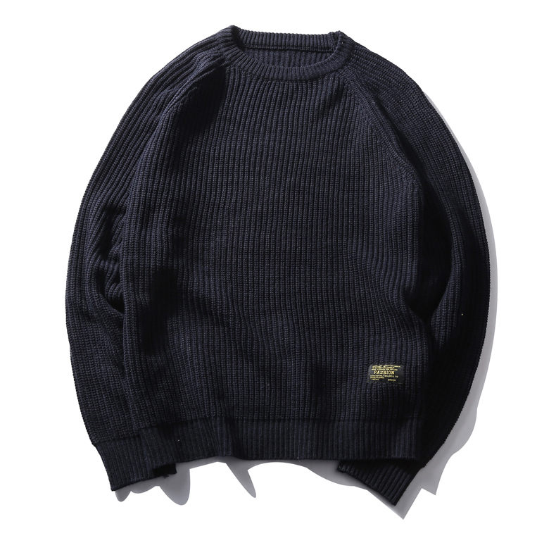 3Color Winter Men Pullover Sweaters Warm Thick Sweater Men Autumn Knited Male Pullover Jumper Navy Red Khaki Brand Muls M-4XL-09