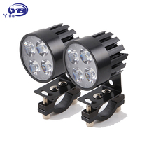 2pcs Universal Motorcycle electric car led lamp 20W Black/Silver LED Headlight Waterproof Lamp for Motorcycle E-bike DC12V-80V(China)