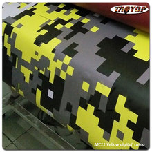 TAOTOP 1.52*30m High quality  MC11 yellow digital camo car body vinyl car wrap Film for car wrapping