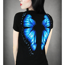 Hot Sale 2017 Summer Style Harajuku t shirt Women 3D Wing Butterfly Print Women Tops Sexy Slim Female Shirt Camisetas T-Shirts