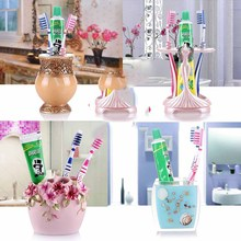 Bathroom suite toothbrush cup creative toothpaste tube cartridge cylinder kit Cups teeth with box combination package