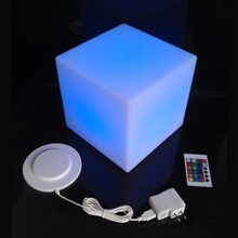 D30cm Multi-function Fashion LED Square Cube Remote Control Outdoor party decorative LED cube/LED chair/LED bar table 4pcs(China)