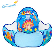 Foldable Cartoon Sea World Ocean Ball Pool Indoor/Outdoor Games Play House For Children Play Tent Toys Wigwam Teepee Infant Tent