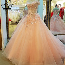 Sexy Sleeveless Tulle Beautiful Wedding Dresses Crystal Sequined Pink Bridal Photography Wedding Gowns 2017 Vestido De Noiva
