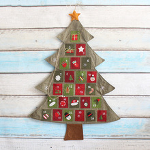 NEW Santa Claus Father Christmas Advent Calendar Countdown Decor Fabric Pockets WHOLESALE